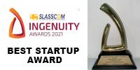 Best Startup Award in SLASSCOM Ingenuity Awards 2021